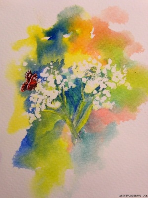 Cow Parsley - small card