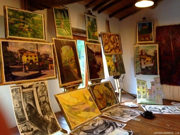 A Studio Full of Art