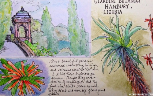 Hanbury Gardens sketches
