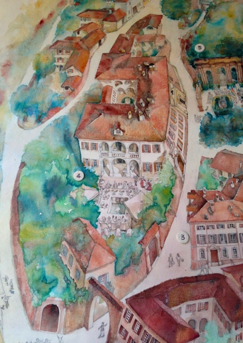 Neive Town Mural Detail - by Gabriella Piccatto