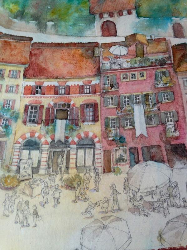 Neive Mural Detail - by Gabriella Piccatto