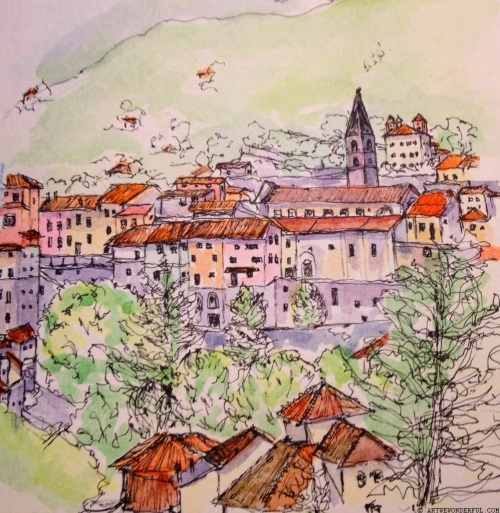 Pigna  - watercolour