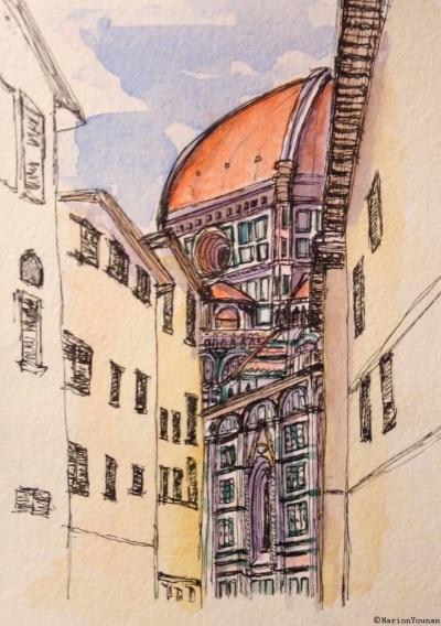 Florence Duomo down Via dello Studio