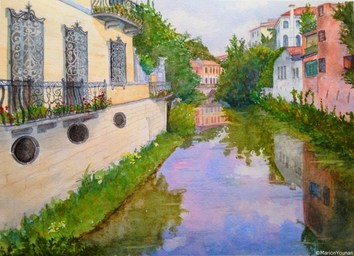 Reflections in a Padova Canal