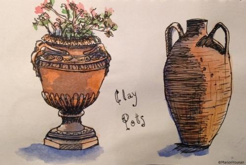 Italian Clay Pots