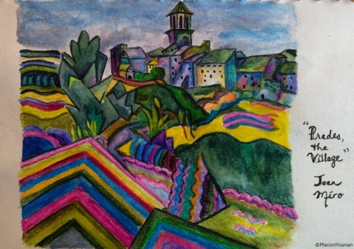 January 28 - Prades, the Village by Joan Miro