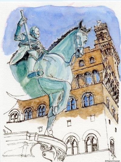 Cosimo I in the Piazza della Signoria