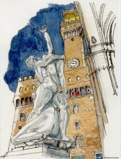 Giambologna in the Loggia dei Lanzi