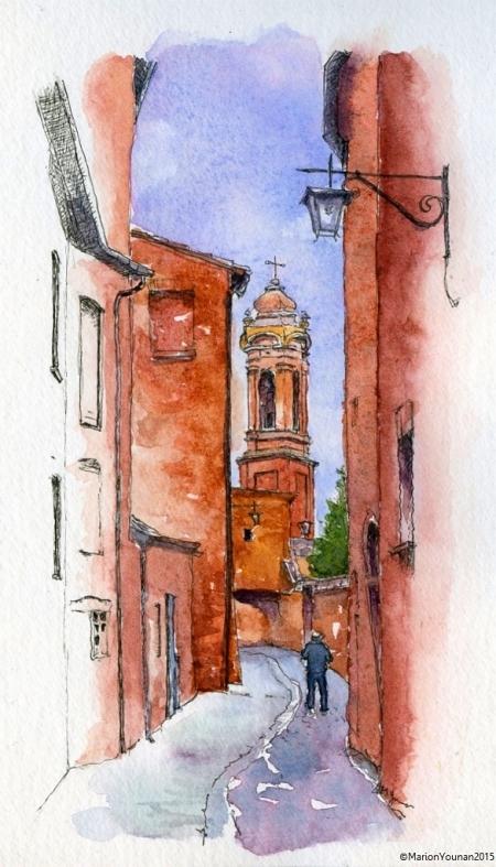 Terra Cotta Streets of Citta della Pieve, Umbria