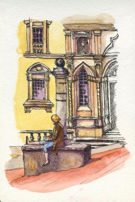 Hilary in Arezzo, Tuscany
