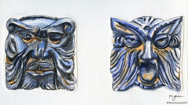 Faces of Palazzo Forani, Casperia
