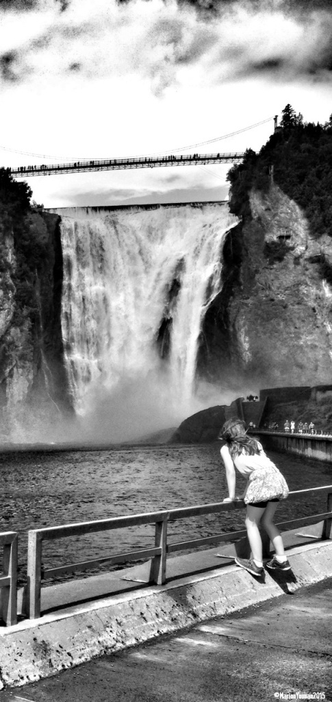 Girl at Montmorency 1 BW