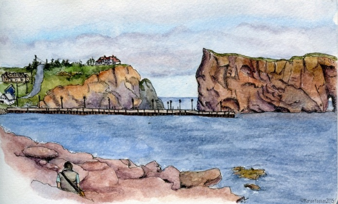 On the Beach in Percé