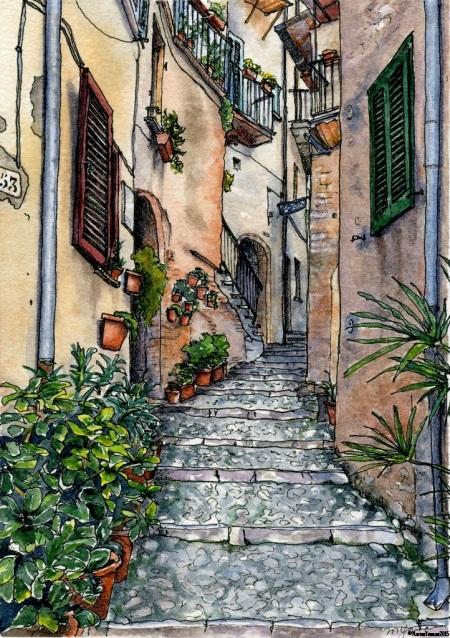Up a Casperia Street