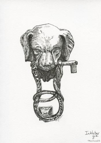 #inktober 3rd - Panicale Puppy door knocker