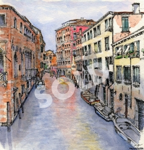 Down a Venice Canal (sold)