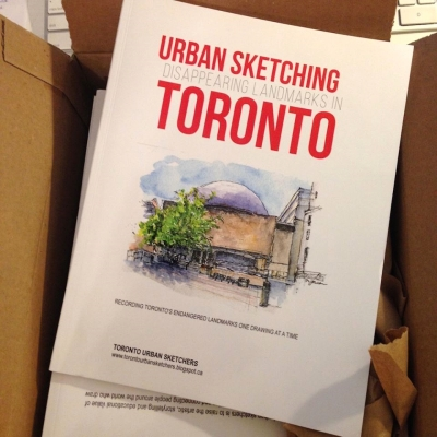 "Cover of ""Disappearing Landmarks in Toronto""; photo courtesy of Marie-Judith Jean-Louis"