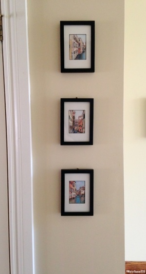 Three Canals (framed and hanging in series)