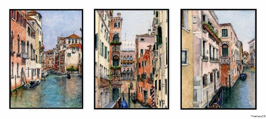 Venice Canals Triptych