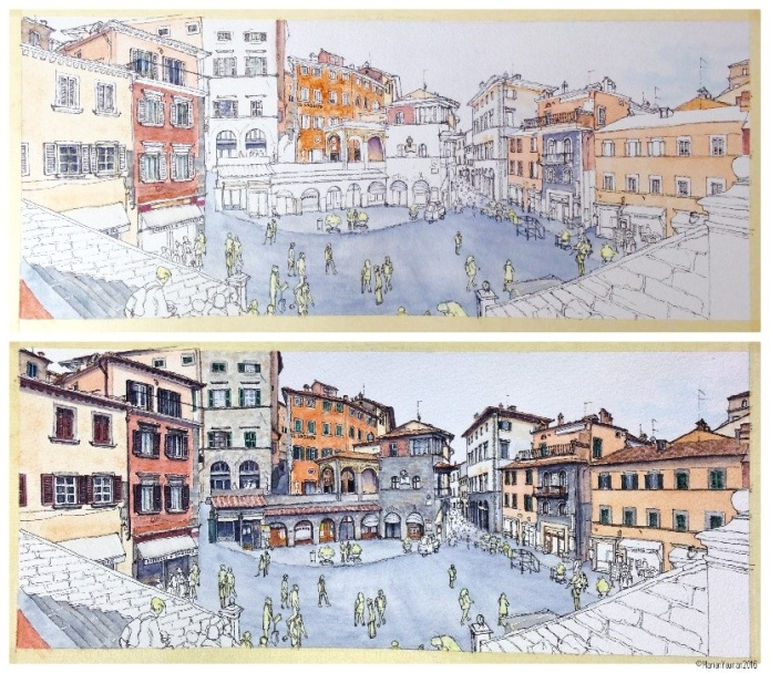 Cortona - a little watercolour and a lot of watercolour