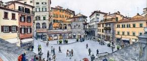 A View From The Top Step - Piazza della Repubblica, Cortona (2016)