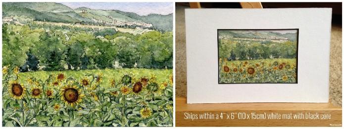 Sunflowers of Narni Umbria on Etsy