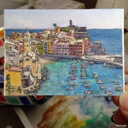 36 Vernazza Cinque Terre studio  aww