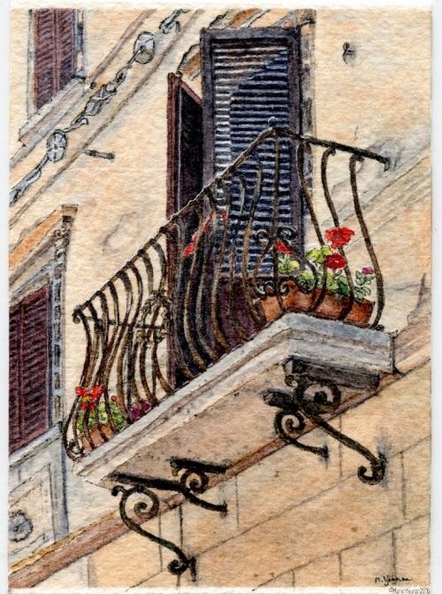 #39 - Tuscan Balcony