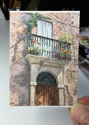 42 Tuscan Doorway studio
