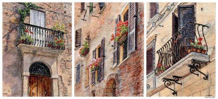 Tuscan Window collage