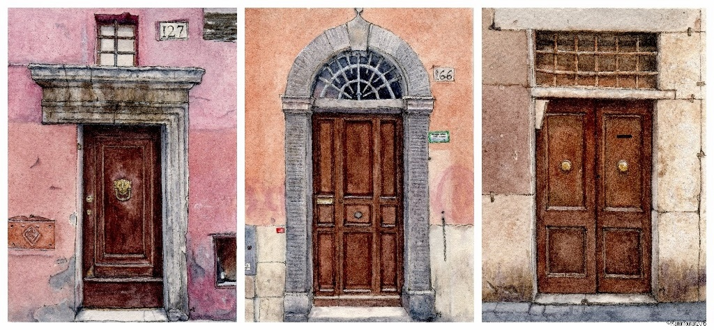 Before Roman Doors & A Different Set of Mini Doors u2013 Art We Wonderful