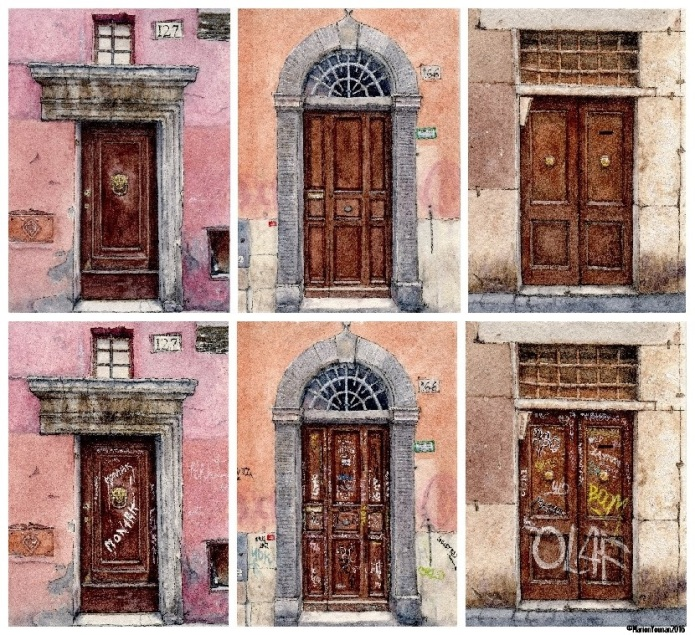 Before/After Roman Doors