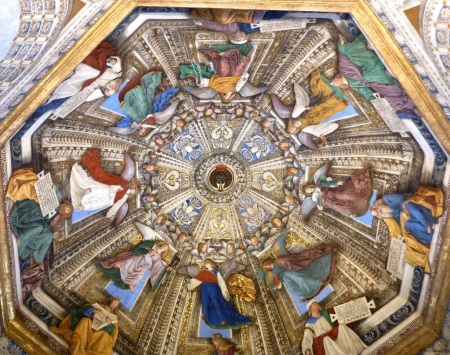The Ceiling in Sacristy of St. Mark, Loreto by Melozzo da Forli (from a 2011 travel photo)