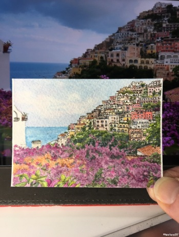 #59 Positano Purple in the studio
