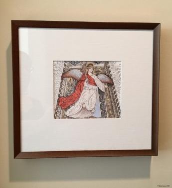 Da Forli Angel - Cross (framed)