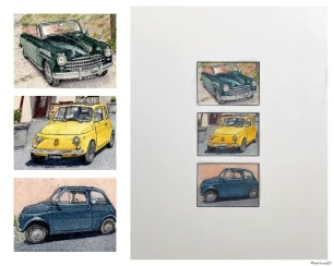 "Fiats of Italy (detail and 11""x14"" mat)"