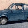 Blue Vintage Fiat