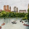 Boating in Central Park –sold