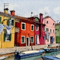Burano Laundry Day –sold
