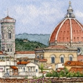 Downtown Florence from Boboli Gardens –sold