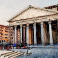 Morning at the Pantheon – sold