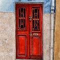 Red Porto Door