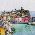 Vernazza Harbour – sold