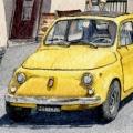 Yellow Vintage Fiat