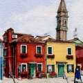 The Leaning Tower of Burano