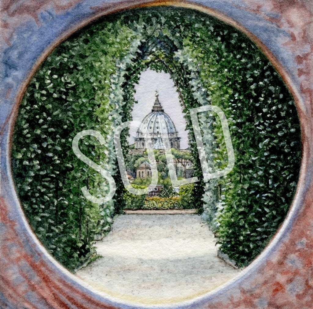 The Aventine Keyhole, Rome sold